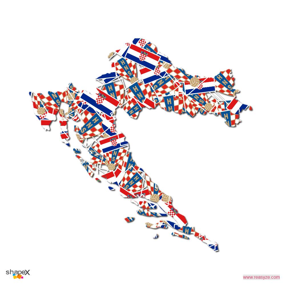 Croatia Shape