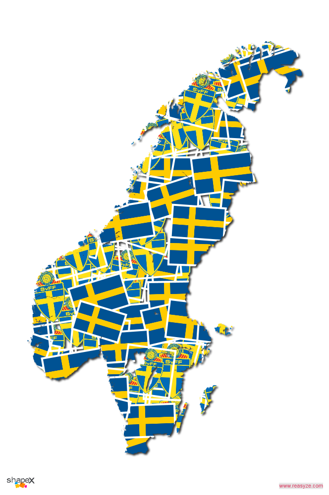 Sweden Shape Collage