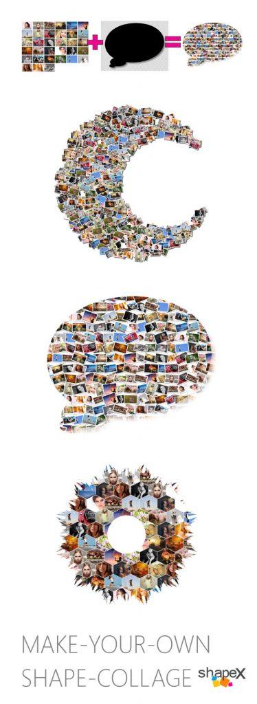 Shape Collage Pinterest