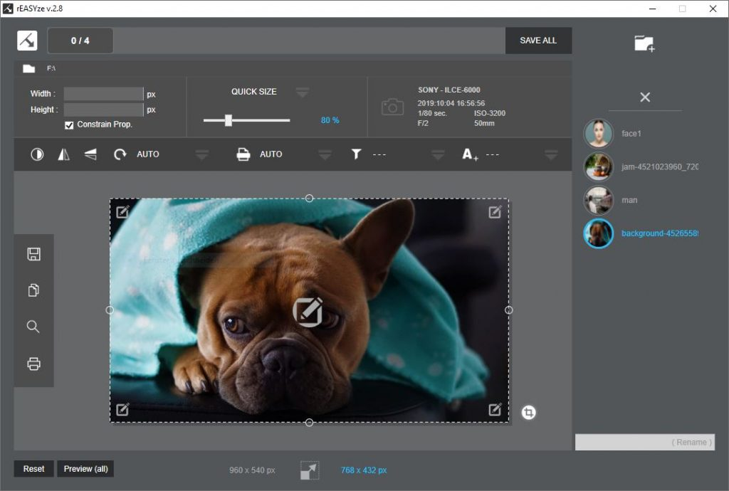 rEASYze - Batch image resizer